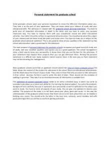 Personal statement for graduate school 37
