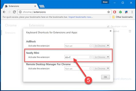 chrome shortcut keys how to create keyboard shortcuts for google chrome extensions
