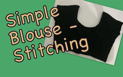 Simple Blouse 2 by Simple Blouse Stitching Part 2 Fashion For