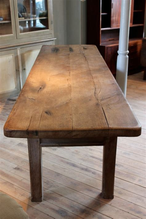 large  cent french oak dining table  great thick top dining tables