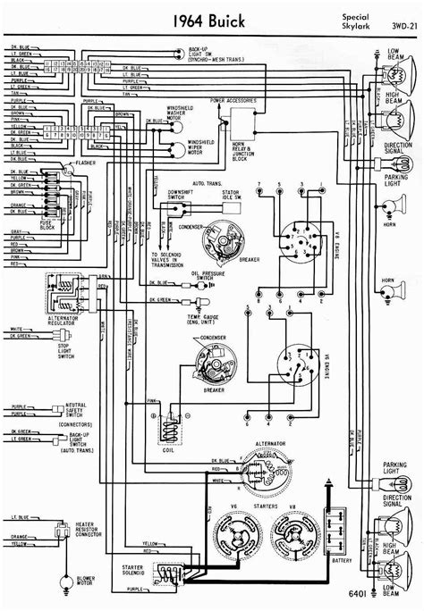 wiring diagram for 1964 buick special and skylark part 2 circuit wiring diagrams