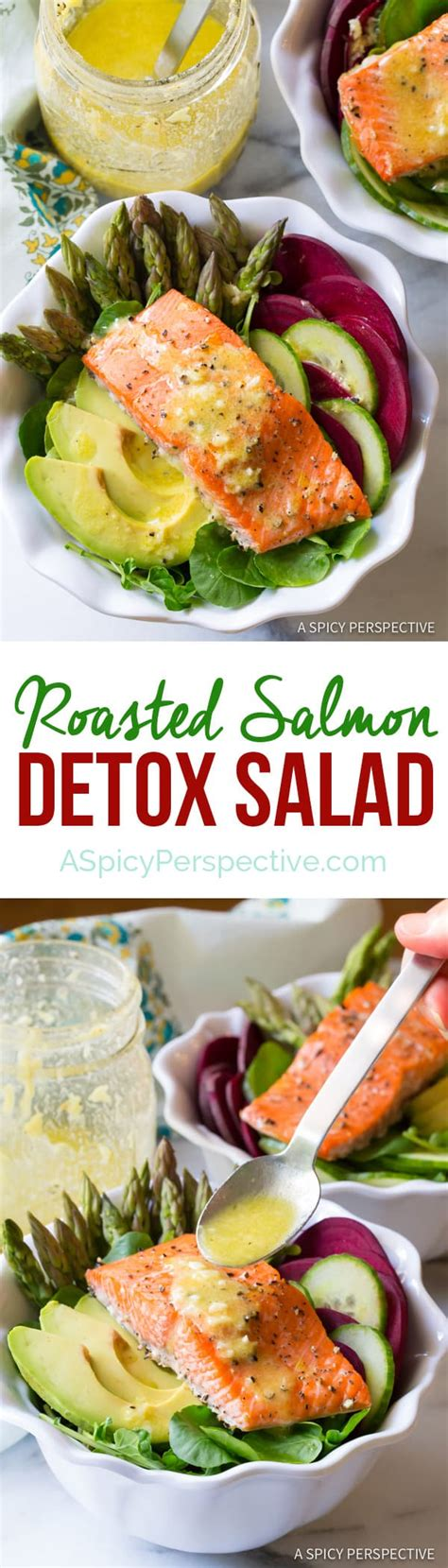 Http Autoimmune Paleo Zesty Detox Salad by Roasted Salmon Detox Salad A Spicy Perspective