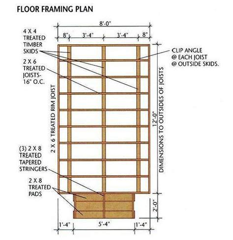 Blueprints For Storage Shed by 8 215 12 Storage Shed Plans Blueprints For Building A