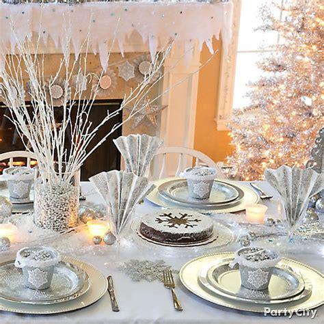 winter decorations city winter tablescape idea city