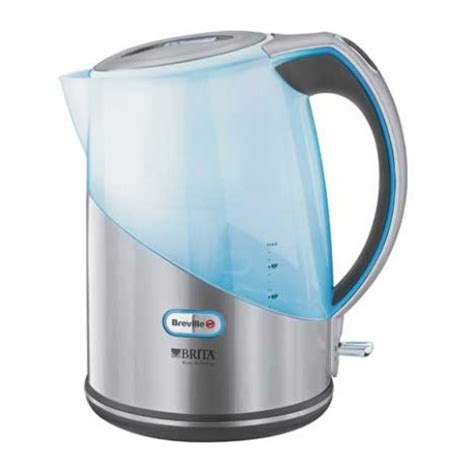 brita filter kettle small kitchen appliance electric breville vkj594 brita filter cordless jug kettle in silver