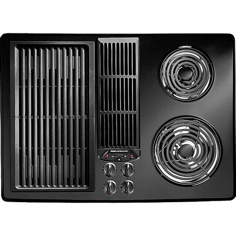 jenn air electric cooktop with grill jenn air jed8130adb 30 quot electric downdraft cooktop with