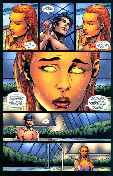 Starfire Shower by Starfire Nightwing Up Dc 183 Starfire