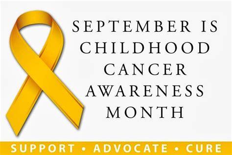 childhood cancer awareness color september is childhood cancer awareness month america herald