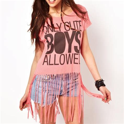 diy fringe t shirt ambrosia fring tassel shirt diy home remedies tassels football and activities