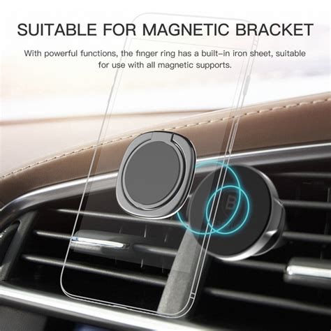 Baseus Luxury Phone Ring Desk Stand Holder Fit For Magnetic Car baseus magnetic finger ring holder mobile phone stand car mount desktop bracket for iphone