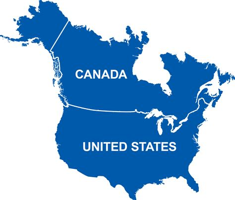 usa and canada border map canada usa 171 privatefly