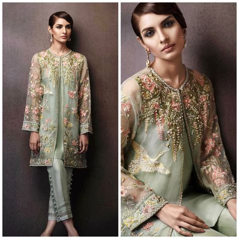 jacket design in pakistan pakistani dress elan eden collection inspired embroidered