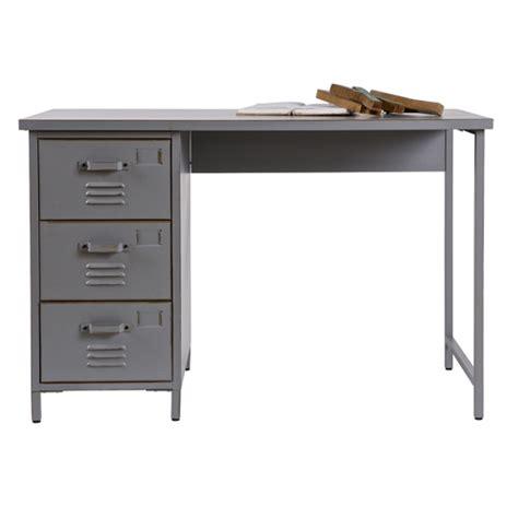 bureau gris pas cher bureau en m 233 tal gris 3 tiroirs vintage max bureau