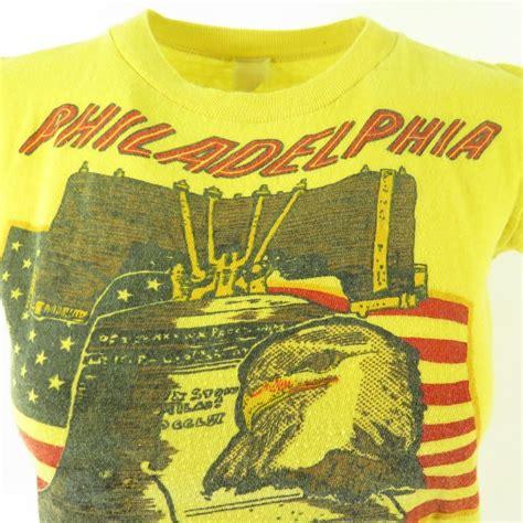 vintage 80s philadelphia independence t shirt womens 8
