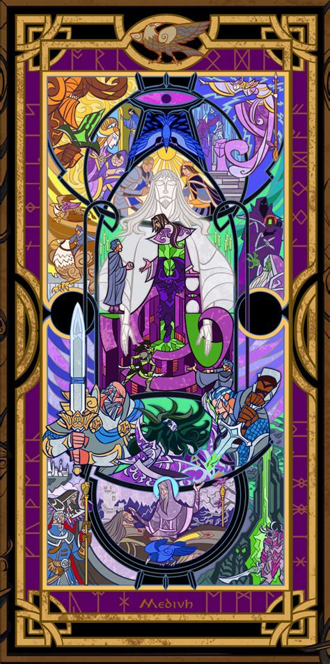 of glass lord of the vag books 麦迪文的一生 魔兽玩家玻璃彩绘画作品 wow魔兽世界 tg兽吧