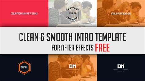 templates after effects gratis cc free clean smooth intro template for after effects cs6