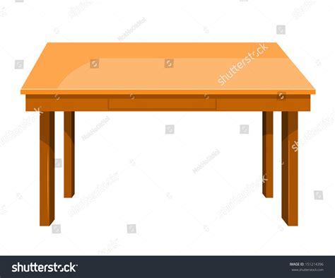 table layout vector wooden table isolated illustration on white background