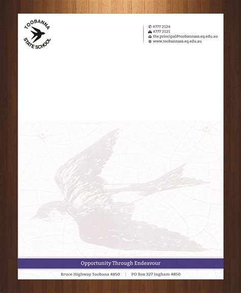 modern feminine letterhead design for toobanna state modern feminine letterhead design for toobanna state