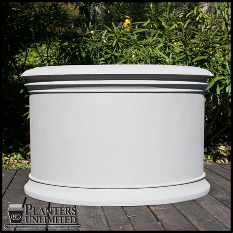 Commercial Fiberglass Planters by Solerno Fiberglass Commercial Planter 48in Dia X 30in H