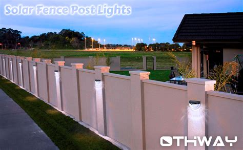 solar fence post lights othway wall mount decorative deck