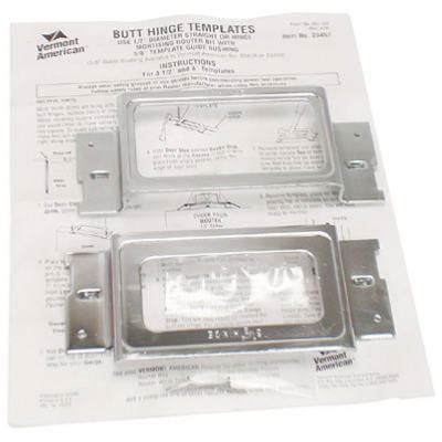wood crafters hinge mortising template set wood crafters 23457