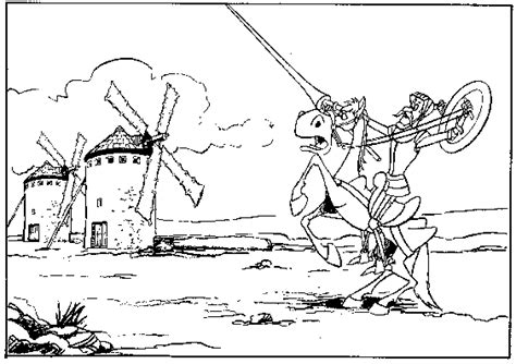 dibujos infantiles para colorear don quijote postales del quijote para colorear