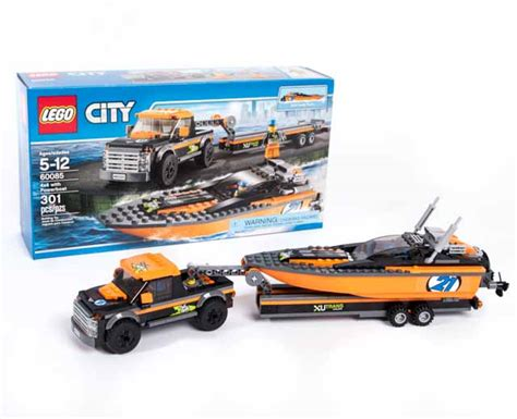 Lego City 60085 4x4 With Powerboat Set Power Motorcar Truck Boat lego city 4x4 with powerboat 60085 pley buy or rent the coolest toys including lego