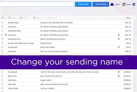 yahoo mail sg animated gif demonstrating how to change your sending name
