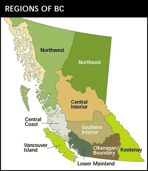 Bc Finder Regional Districts Knowbc The Leading Source Of Bc Information