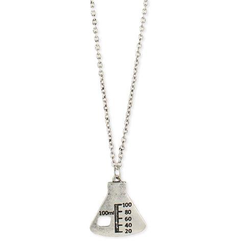 wholesale silver chemistry beaker pendant necklace zad