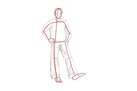 A Drawing Of A Person by How To Draw A Person Standing