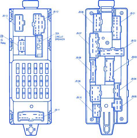 mazda protege fuse box wiring diagram with description