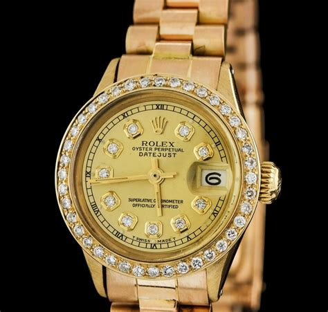 rolex auction 18kt yellow gold datejust
