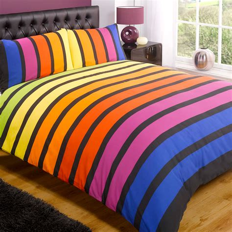 Cotton Quilt Cover Sets by Striped Poly Cotton Duvet Cover Modern Quilt Cover Bedding