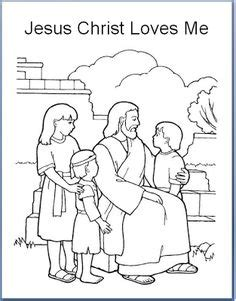 jesus loves me coloring page lds jesus loves me jesus love me and the other children too