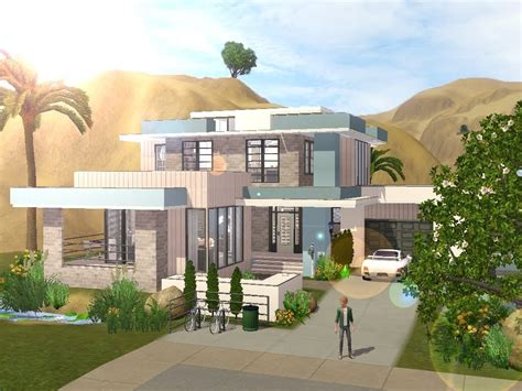 Sims 3 Modern House Floor Plans House Plans And Design Modern House Plans In Sims 3