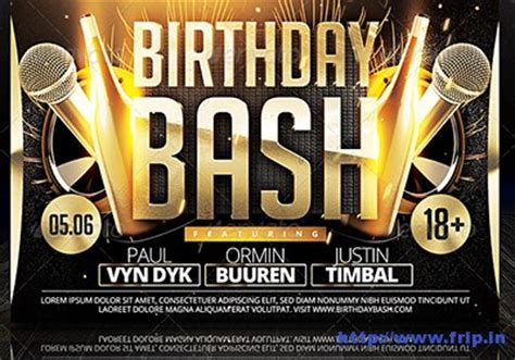 30 Best Birthday Bash Party Flyer Print Templates Frip In Bash Flyer Template V2