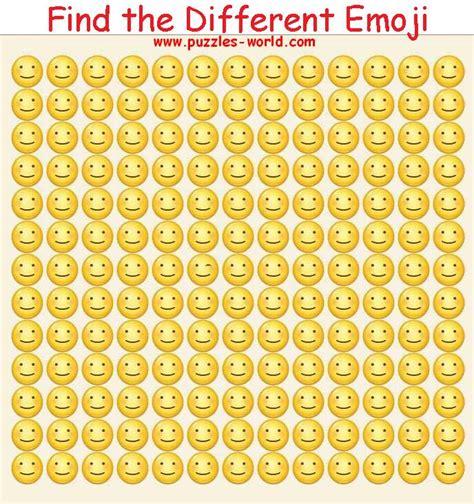find the emoji 2 new year find the different emoji whatsapp puzzles world quiz