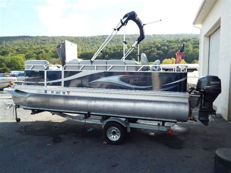 used qwest pontoon boats sale 2011 used quest 7518 ls pontoon boat for sale duncannon