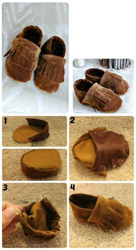 diy leather baby moccasins diy baby shoes diy shoes