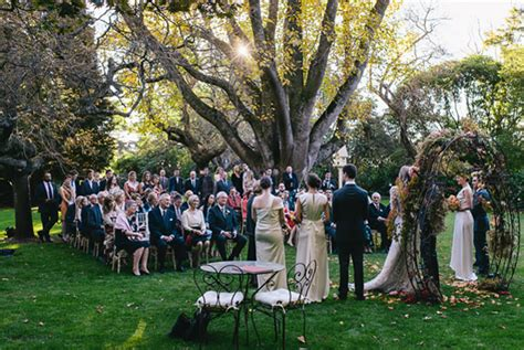 Fall Backyard Wedding Ideas Outdoor Fall Wedding Once Wed