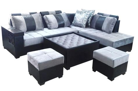 l shape sofa sets lambert l shape sofa set center table and 2 puffy dream