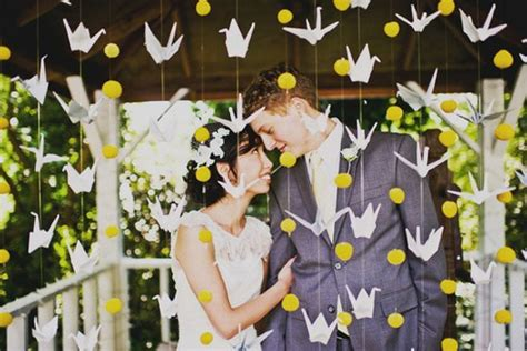 origami crane wedding decoration symbolism of japanese birds