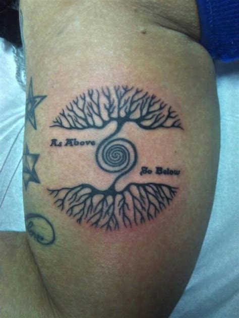 as above so below tattoo mariah ink pinterest