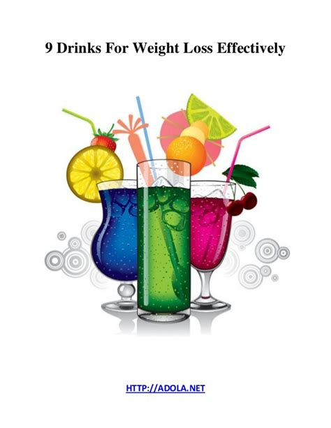 9 weight loss 9 drinks for weight loss effectively