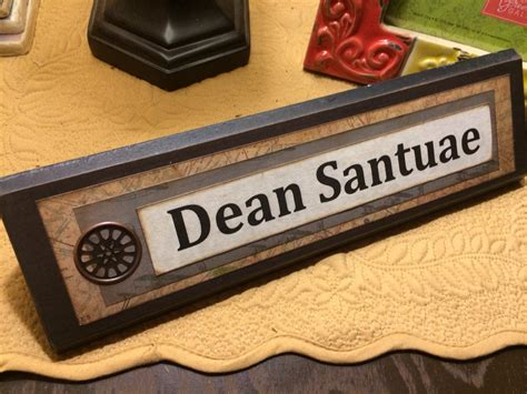 Custom Desk Plaque by Unique Wooden Office Desk Name Plate Plaque By Shelleeodom