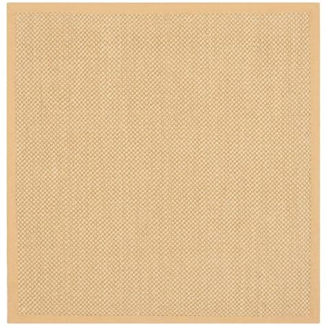 4 foot square rug safavieh fiber maize wheat 4 ft x 4 ft square area rug nf443a 4sq the home depot