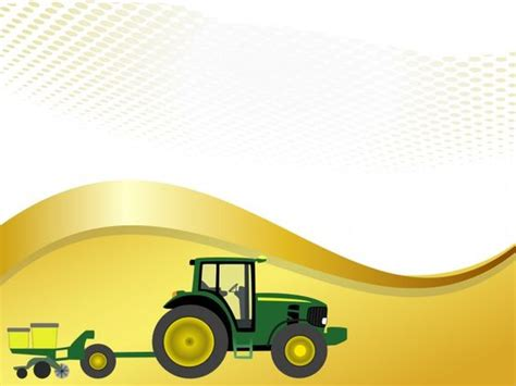 Planter Border Ideas by This Free Farm Tractor With Planter Powerpoint Template Is