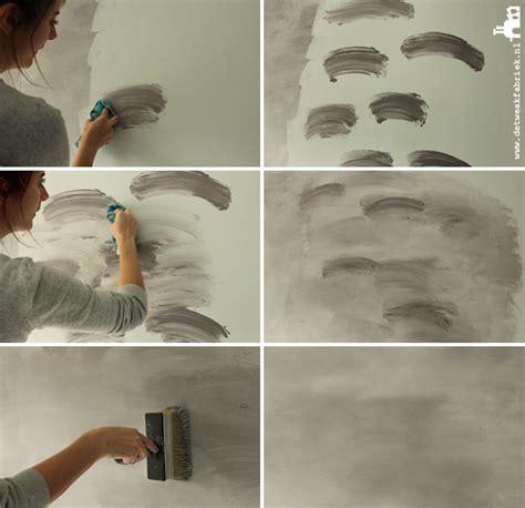 Muur Schilderen Effecten by Betonlook Muur Verven Volg Ons Stappenplan Voor