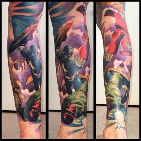 marvel tattoo sleeve marvel tattoos for ideas and inspiration for guys
